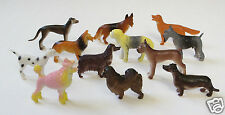 12 Mini Plastic Dog Animal Figures Toy Party Goody Loot Bag Filler Favor Supply