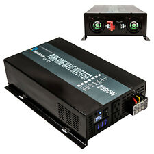 Pure Sine Wave Inverter 2000W 12/24/48V DC to 110/220V AC Solar Power Inverter