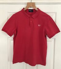 Men's FRED PERRY POLO rossa taglia large slim fit