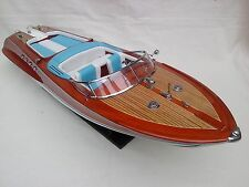 "Riva Aquarama 34"" High Quality Italian Model Boat L80 Beautiful Home Decor"