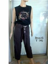 IKKS PANTALON / PANTACOURT MARRON + TEE SHIRT ASSORTI NEUF T 36 US 26