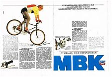 Publicité Advertising 1987 (2 pages) Velo VTT Mountain bike MBK