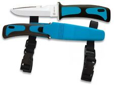 blaues Tauchermesser Anglermesser Outdoormesser Messer Knife Albainox NEU