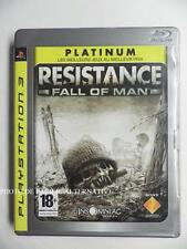 jeu RESISTANCE FALL OF MAN platinum sur ps3 playstation 3 sony en francais game