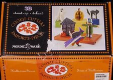 Nordic Ware HALLOWEEN 3D Stand Up COOKIE CUTTERS Haunted House Cat Pumpkin