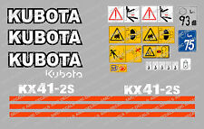 KUBOTA KX41-2S MINI ESCAVATORE DECALCOMANIA SET