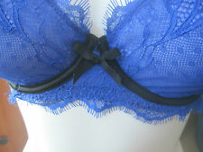 JACOB BLUE & BLACK lace Under wire bra size 36A NEW NWT MSRP $34.90