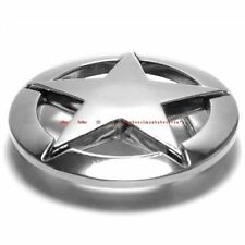 HBU1263 PENTAGRAM ROCK 5 POINT NAUTICAL STAR CHROME BELT BUCKLE
