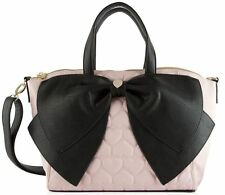 Betsey Johnson Satchel purse candy blush New with tags pink & black