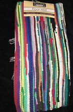 NEW Rag Rug for Kitchen, Bathroom and Entry Way Multi-color Red Blue Green