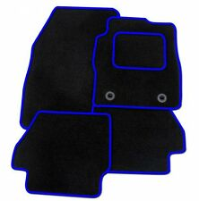 FORD MUSTANG 2015+ TAILORED CAR FLOOR MATS BLACK CARPET WITH BLUE TRIM