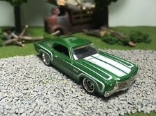 Hot Wheels CUSTOM W/REAL RIDERS Green '70 Chevy Monte Carlo SS