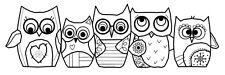 Woodware Clear Singles Rubber Stamp - Owls FRS347