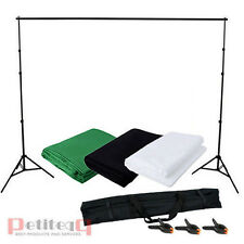 Photo Studio Background Support Stand Kit Backdrop White Black Green Chroma Key
