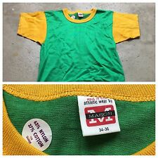 60s VTG NOS MASON Cotton Nylon M RINGER Jersey T Shirt COLORBLOCK ROCKABILLY Gym
