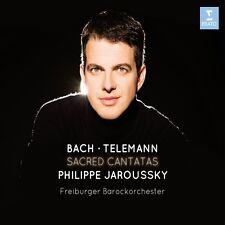 JAROUSSKY/FREIBURGER BAROCKORCHESTER - SACRED CANTATAS   CD NEU BACH/TELEMANN