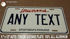 Personalized Louisiana Custom Aluminum Novelty State License Plate / Tag - AUTO