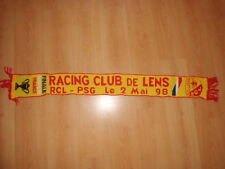 Rare écharpe collector finale Coupe de FRANCE 1998 RC LENS - PSG