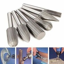 6pcs Shank HSS Router Bit Rotary Burrs File Set Milling Drill Engraving Cutter