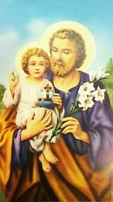 100 pcs. St. Joseph Holy Pictures Prints with Prayer-Blessed by Pope on request