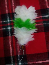 TC Feather Plume Hackle Glengarry Cap White,Green,White/Balmoral Plume Hackle 6""