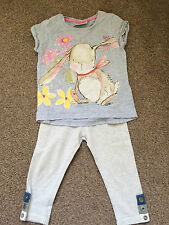 Girls Next Grey Bunny Rabbit T-shirt and Leggins 12-18 Months