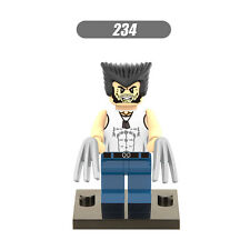 Wolverine white T-shirt Lego fittable minifigure Marvel superhero set X Men