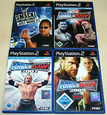 4 PLAYSTATION 2 PS2 SPIELE SMACKDOWN RAW 2007 2009 WWE ECW WWF WRESTLING (12 13)