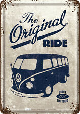 The Original Ride VW Bulli Panneau en tôle 10x14 cm Bus Samba T1 T2 T3 10226