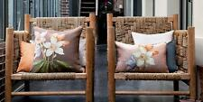 """Iosis Yves Delorme Helene Rose Tapestry Floral Cushion Cover 17"""" x 17"""" NEW"""