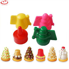 4pcs Christmas Plastic Cookies Cutter Pasty Cake Decorating Mould Mold Tool