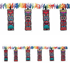 Tiki Flower Garland Luau Hawaiian Summer Party Decoration Supplies ~71/2ft
