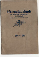 war diary of a German medical officer 1914-15   first war booklet