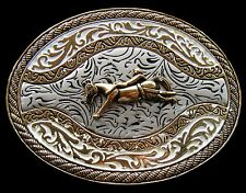 Western Belt Buckle Cowboys Cowgirls Rodeo Horse Boucle de Ceinture Cheval