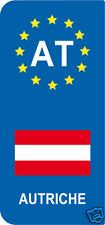 lot 2 Stickers style immatriculation (Vinyl FLAG) Europe AUTRICHE