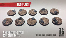 Mud Flaps 10 x 25mm round resin bases
