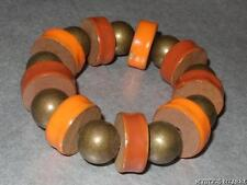 Wood & Acrylic Bead Stretch Bracelet