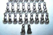 Tibetian Silver Lead Free Pewter Charms/Cat Sitting #2785~  30-32Pcs.