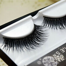2 Pairs Natural Thick Cross Eye Lashes Makeup  Extension Long False Eyelashes