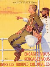 ART PRINT POSTER VINTAGE ADVERT WAR WWI FRANCE COLONIAL NOFL1466