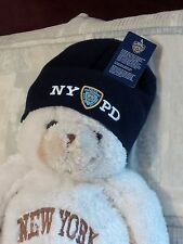 NYPD CTY OF NEW YORK POLICE DEPARTMENT NO FOLD ADULT WINTER HAT NAVY