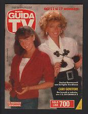 GUIDA TV MONDADORI 36/1988 ENRICA BONACCORTI CARI GENITORI PROGRAMMI TV LOCALI