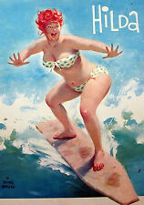 Wall Calendar 2017 [12 pages A4] Hilda Chubby PinUp Girl Redhead Vintage M418