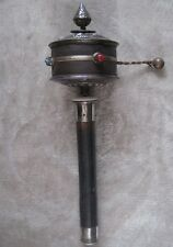 "Tibetan Om Mani Mantra Old Prayer Wheel 16"" (Large)  - Nepal"