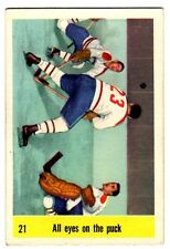 1X JACQUES PLANTE IA 1958-1959 Parkhurst #21 EXNM 58-59 All Eyes On The Puck