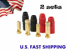 2sets Amass AS150 7MM 150 Amp Anti-Spark Connector Plug For HV Lipo-Battery