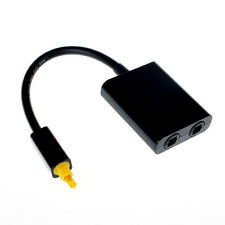 Digital Toslink Optical Fiber Audio Male 1 to 2 Female Splitter Adapter Hifi DVD