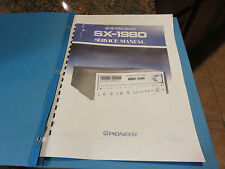 PIONEER SX1980 RECEIVER   COMPLETE SERVICE MANUAL