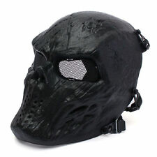 Metal Mesh Eye BB Protect Full Face Mask Airsoft Paintball Hockey Cosplay Black