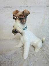 Hispania Daisa (Lladro) Large Ceramic Fox Terrier Dog #3331 Figurine Figure 1984